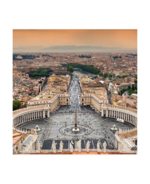 Philippe Hugonnard Dolce Vita Rome 3 View of Rome from Dome of St. Peters Basilica Ii Canvas Art - 3