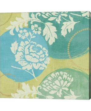 """Metaverse Floral Decal Turquoise I by Veronique Charron Canvas Art, 24"""" x 24"""""""