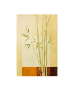 "Pablo Esteban Bamboo on Yellow Canvas Art - 19.5"" x 26"""