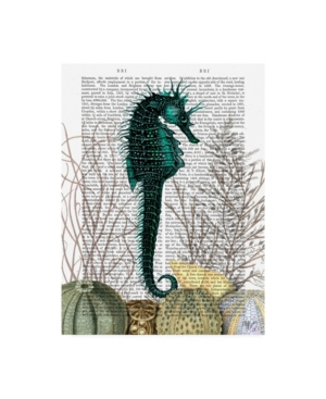 """Fab Funky Seahorse and Sea Urchins Book Canvas Art - 19.5"""" x 26"""""""