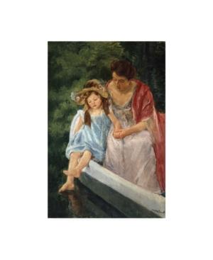 "Mary Stevenson Cassatt Mother and Child in Boat Canvas Art - 15.5"" x 21"""