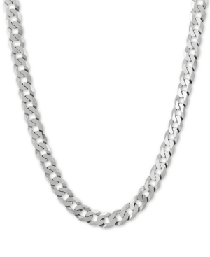"""Curb Link 22"""" Chain Necklace in Sterling Silver"""