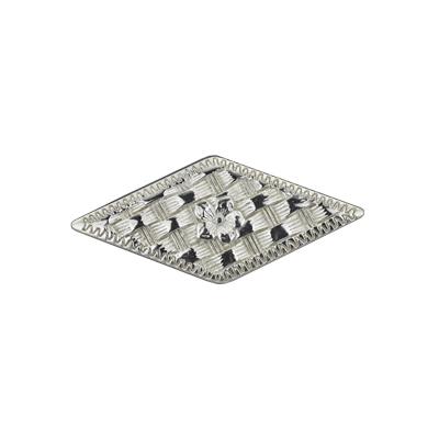 IVAN 48x22mm菱形籃紋雙撞釘式飾片7153-02