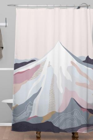 Deny Designs Iveta Abolina Off the Grid Purple Shower Curtain Bedding