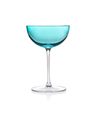 Godinger Novo Rondo Sea Blue Coupe - Set of 4