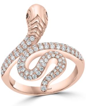 Effy Diamond Snake Ring (5/8 ct. t.w.) in 14k Rose Gold