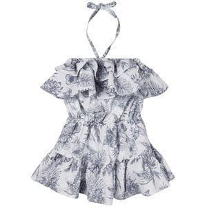 How To Kiss A Frog White Palms Ruffle Detail Dress 6 Years