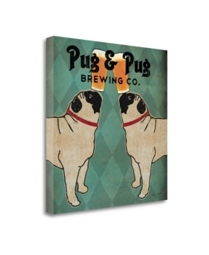 Tangletown Fine Art Pug and Pug Brewing Square by Ryan Fowler Giclee Print on Gallery Wrap Canvas, 2