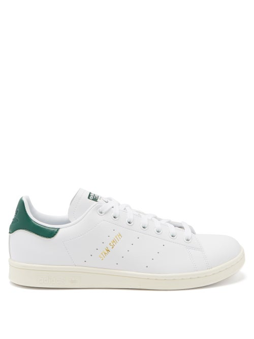 Adidas - Stan Smith Faux-leather Trainers - Mens - Green White
