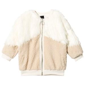 Andorine Andorine Cream and Tan Shearling Faux Fur Coat 12 years