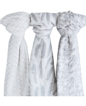 Ely's & Co. Cotton Muslin Swaddle Blanket 3 Pack