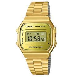 【CASIO 卡西歐】電子男錶 不銹鋼錶帶 生活防水 碼錶功能(A168WEGM-9D)
