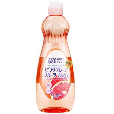 日本【火箭石鹼】多功效洗潔精600ml(葡萄柚香)