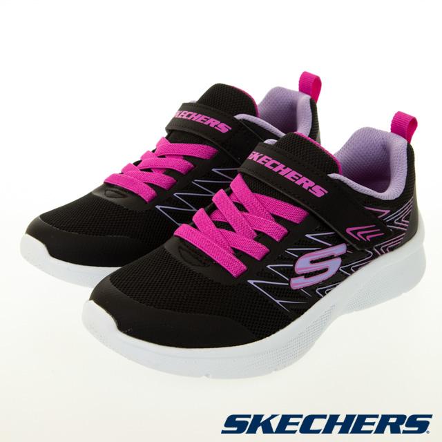 SKECHERS 女童系列 MICROSPEC - 302468LBLK