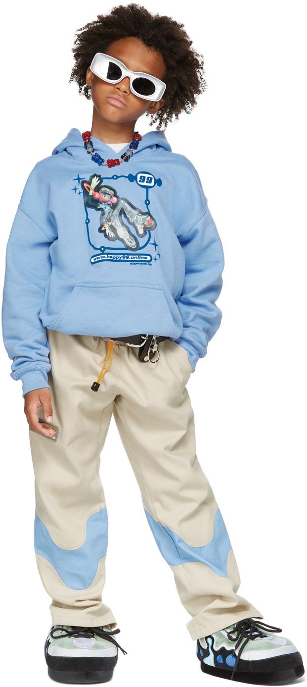 Happy99 SSENSE 独家发售蓝色 Lenticular 儿童连帽衫