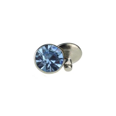 IVAN 7mm淡藍色壓克力水鑽撞釘1356-03