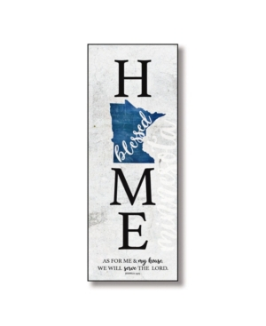 """Dexsa Minnesota Home-Blessed Wood Wall Plaque with Hanger, 5.5"""" x 12"""""""