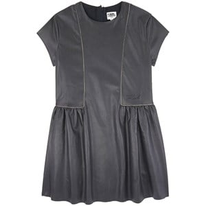 Karl Lagerfeld Kids Karl Lagerfeld Kids Black Faux Leather Dress
