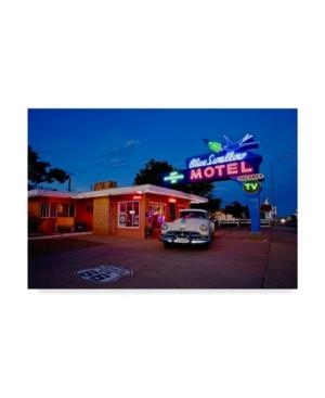 """American School Blueswallow Motel Canvas Art - 20"""" x 25"""""""