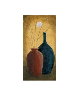 """Pablo Esteban Two Thick Vases and Flowers Canvas Art - 36.5"""" x 48"""""""