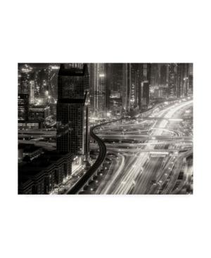 "Ahmed Thabet The Light River of Dubai Canvas Art - 15"" x 20"""