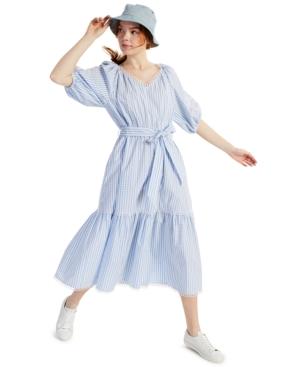 Charter Club Petite Plaid Cotton Midi Dress, Created for Macy's