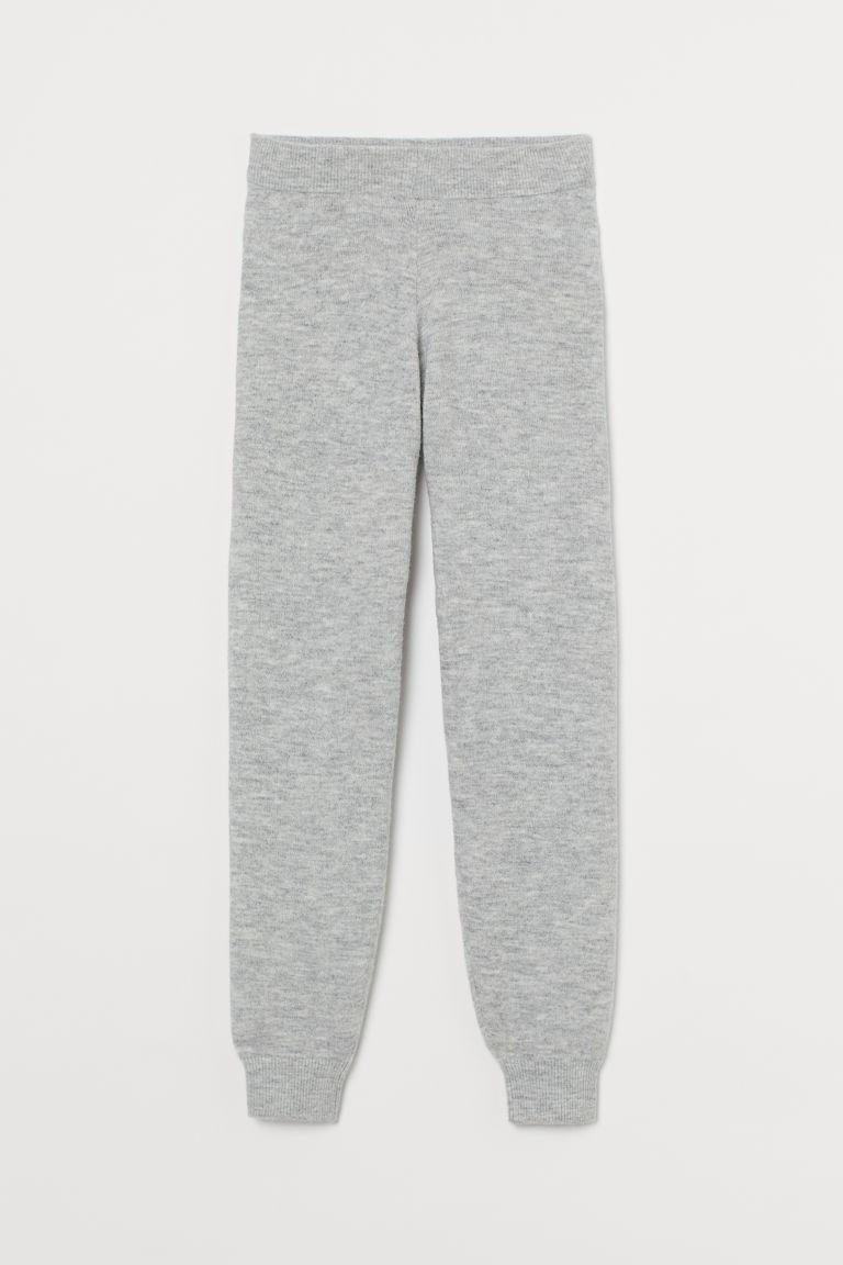 H & M - 針織慢跑褲 - 灰色