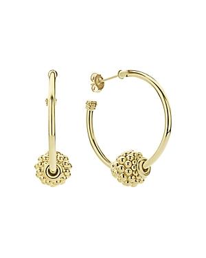 Lagos 18K Yellow Gold Caviar Gold Beaded Hoop Earrings