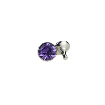 IVAN 5mm淺紫色壓克力水鑽撞釘1394-01