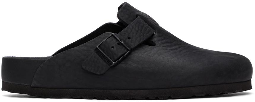 Birkenstock 黑色 Boston 乐福鞋