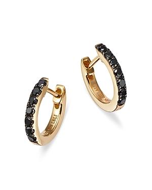 Bloomingdale's Black Diamond Huggie Hoop Earrings in 14K Yellow Gold, 0.20 ct. t.w. - 100% Exclusive