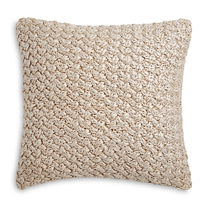 Michael Aram Iris Metallic Knit Decorative Pillow, 18 x 18