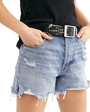 Free People Makai Cutoff Denim Shorts in Twist & Shout