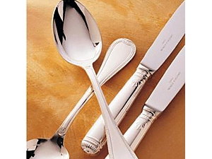 Christofle Malmaison Silverplate Serving Fork