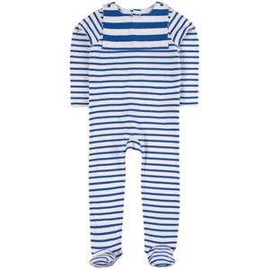 Jacadi Blue Stripe Footed Baby Body 3 months