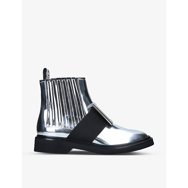 Chelsea Viv' Rangers patent-leather ankle boots