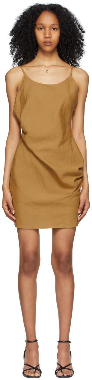 DRAE 黄色方领连衣裙