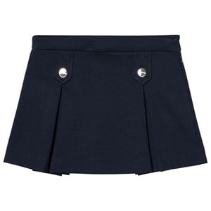 Jacadi Navy Button Detail Pleated Skirt 12 years