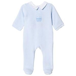 Jacadi Blue Velour Sleep Well Baby Grow 24 months