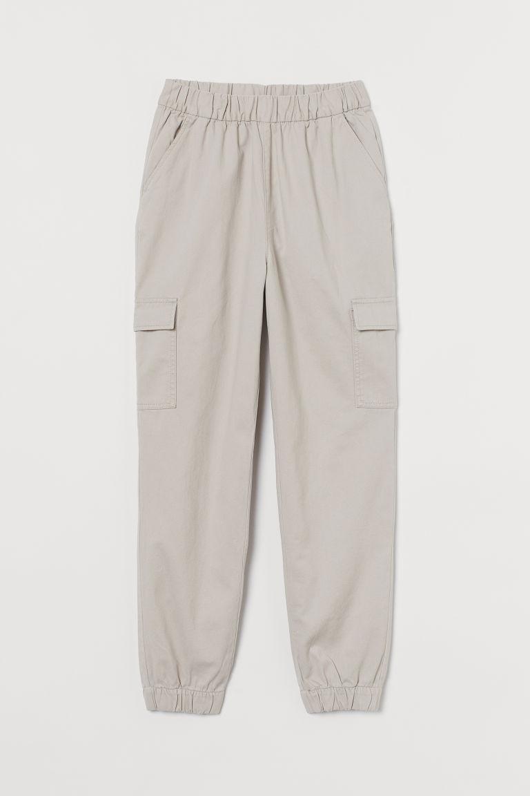 H & M - 斜紋工作褲 - 褐色
