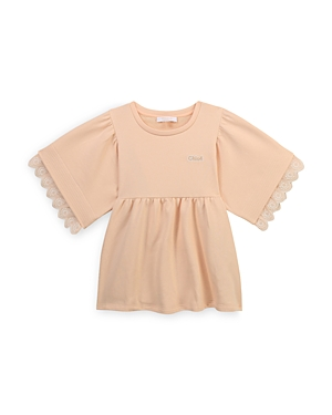 Chloe Girls' Cotton Blend Embroidered Blouse - Big Kid
