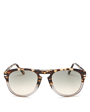 Persol Men's Round Fold-Up Sunglasses, 54mm