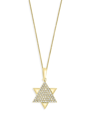 Bloomingdale's Diamond Star of David Pendant Necklace in 14K Yellow Gold, 0.15 ct. t.w. - 100% Exclu
