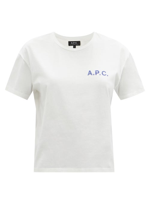 A.P.C. - Judy Logo-print Jersey T-shirt - Womens - White