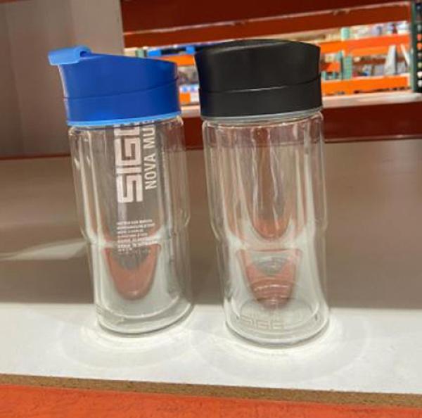 [COSCO代購] C128552 SIGG 雙層玻璃水杯兩件組 單個容量370毫升