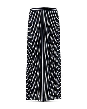 Marella Tolmin Striped Pleated Midi Skirt