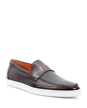 Santoni Man's Banker Slip On Loafers