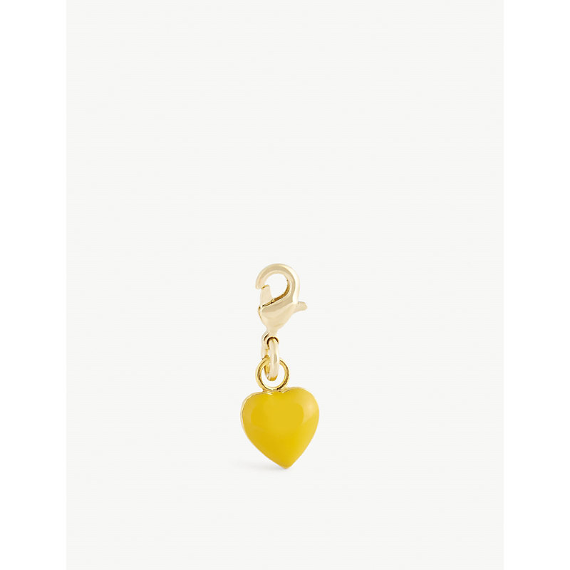 Heart-shaped gold-plated sterling silver charm