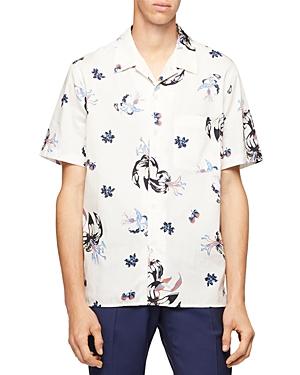 Ps Paul Smith Floral Print Short Sleeve Regular Fit Camp Shirt