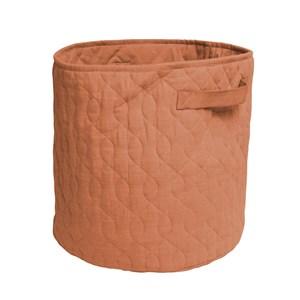 Sebra Sebra Sweet Tea Brown Quilted Basket One Size